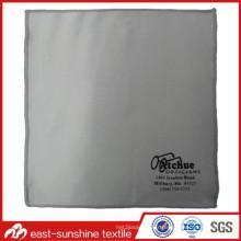 Impression à sérigraphie monochrome Tissu à lentille en microfibre avec bord recouvert