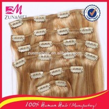 top grade best price full thick cheap 100% human hair clip in hair extension