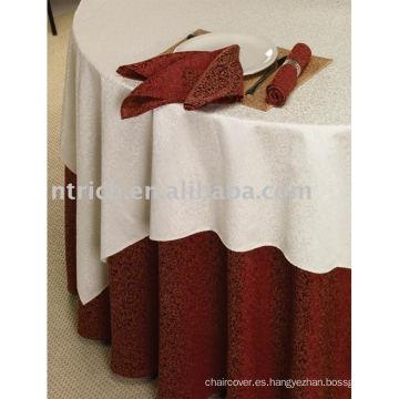 mantel del poliester 100%, cubierta de tabla del banquete del Hotel