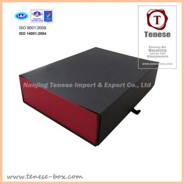 Caja de almacenamiento de herramientas Caja de papel plegable negra y roja, caja nueva