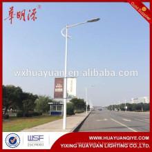 Poteau de lumière de rue en acier tubulaire galvanisé