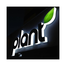 Custom Wall Sign Stainless Steel Mirror Back Lighted Letters Outdoor Advertising Lighted LOGO Electronic LED Letters