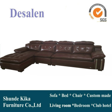 L Shape Living Room Furniture, Home Furniture Leather Sofa (B. 962)