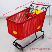 Wholesale red plastic shopping cart