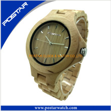 Newest Design Custom Wholesale Pure Wood Watch Wooden Watches 2016