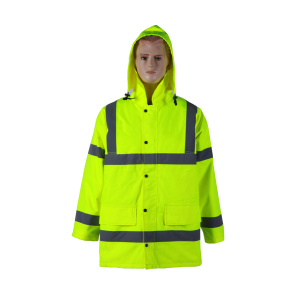 EN20471 reflective safety rain jacket