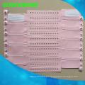 Pulsera de identificación de identificación del paciente del hospital