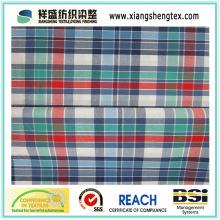 Yarn-tingida tecido de xadrez de algodão para a camisa (50s * 50s)