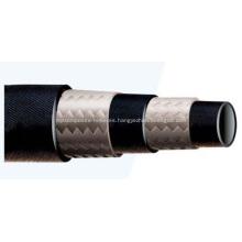 Tubo de goma trenzado de fibra de 2 capas