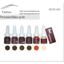 Profesional ceja permanente maquillaje tinta y pigmento (ZX-042)