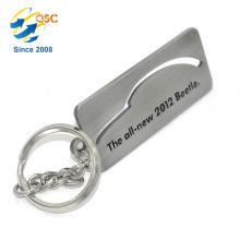 Qualitäts-kundenspezifisches Logo-Metallmode-Goldgroßverkauf Keychain