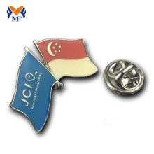Country national flag custom epoxy pin badge