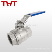 cf8m screw thread end one piece ball valve wuhu