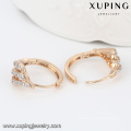 23016-Xuping Jewelry New Design plaqué or boucle d'oreille avec Zircon