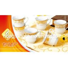160CC Фальшивый золотой кубок и блюдце