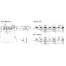0.25 Inch 4 Digit 7 Segment Display (GNS-2541Ax-Bx)