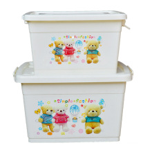 Cartoon Plastic Storage Container Box für Haushalt Lagerung (SLSN046)