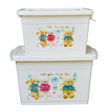 Caixa de recipiente de armazenamento de plástico de desenhos animados para armazenamento doméstico (SLSN046)
