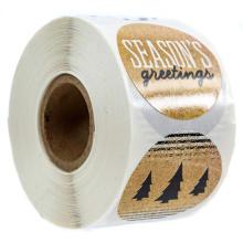O vinil adesivo da impressão feita sob encomenda impermeável agradece-lhe etiquetar a etiqueta