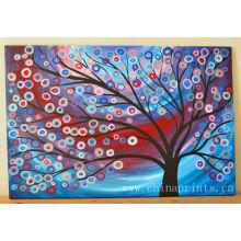 Beaux arbres abstrait Peintures à l'huile