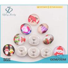 Boutons-pression métalliques en métal, bouton-poussoir en plastique mignon