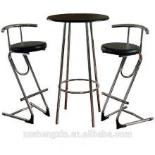 Conjunto de mesa de barra de marco de metal mesa de bar y silla