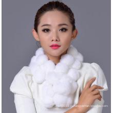 Леди мода Рекс кролика бал шарф зимы (YKY4398)