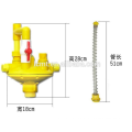 Plastic chicken with water fountain water pressure reducing valve