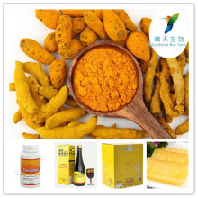 Ventas calientes Extracto de raíz de cúrcuma, raíz de cúrcuma PE, Extracto de raíz de cúrcuma Curcumina 50% ~ 98%