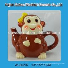 Théière en céramique promotionnelle en forme de singe
