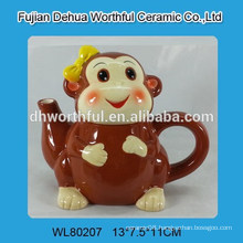 Promotional ceramic teapot in monkey shape