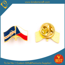 Czecho Flag Pin Badge with Butterfly Clutch Plating Gold