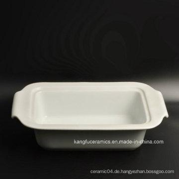 Günstige einfache weiß glasierte Porzellanplatte