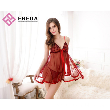 The hot Sexy Lace and Babydoll Lingerie nightdress