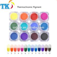 Pigmento termocrômico a cor do pó pode mudar com a mudança de temperatura para unha polonês / tinta