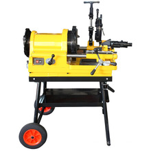 "SQ50E 1/2""-2"" GI pipe thread cutting machine with optional wheels"