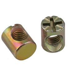 steel brass M3 M4 M5 barrel cross dowel hole nut
