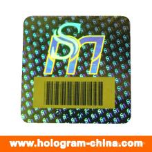 Seguridad Anti-Fake Barcode Hologram Stickers
