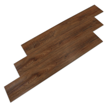 Dark Brown Wood Grain Scratch Resistant Laminate Flooring