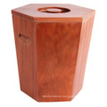 Customized Burning Color Wooden Rice Bucket for Store or Supermarket, Wooden Barrel