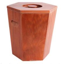 Personalizada Quemar el cubo de arroz de madera del color para la tienda o el supermercado, barril de madera