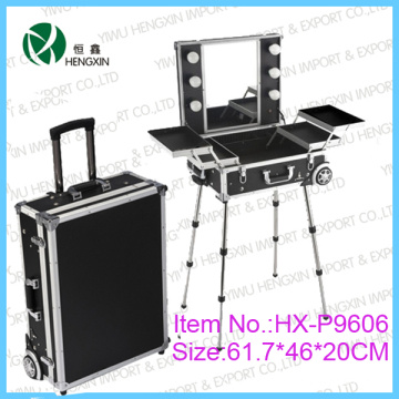 Cosmetic Case with Trolly Light Makeup Case (HX-DY9606)