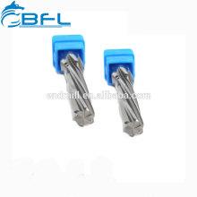 Alésoirs à cannelures droites au carbure de BFL, alésoirs au carbure solide pour trou de perçage