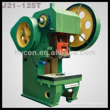Máquina perforadora mecánica de hoja metálica de 125 toneladas