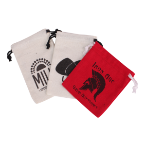 Small Print Logo Cotton Drawstring Gift Bag