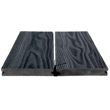 Wood plastic composite well done solid wpc decking flooring