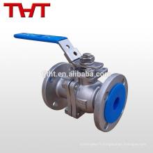 L'acier de bâti de bride de 3 pouces réduisent des valves à tournant sphérique