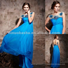 NY-2531 Beach Sapphire Blue Long Robe de soiree formelle