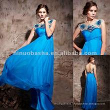 NY-2531 Beach Sapphire Blue Long Formal Evening Dress