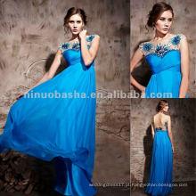 NY-2531 Praia Sapphire Azul Longo Vestido formal da noite